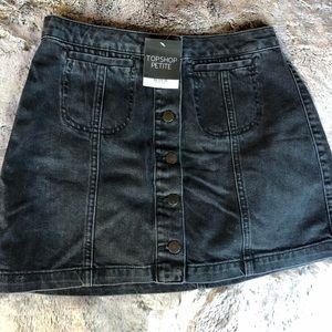 NWT (8) Top Shop Petite Denim Mini Skirt